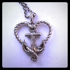 "Brighton ""Seas The Day"" Anchor/ Nautical necklace"
